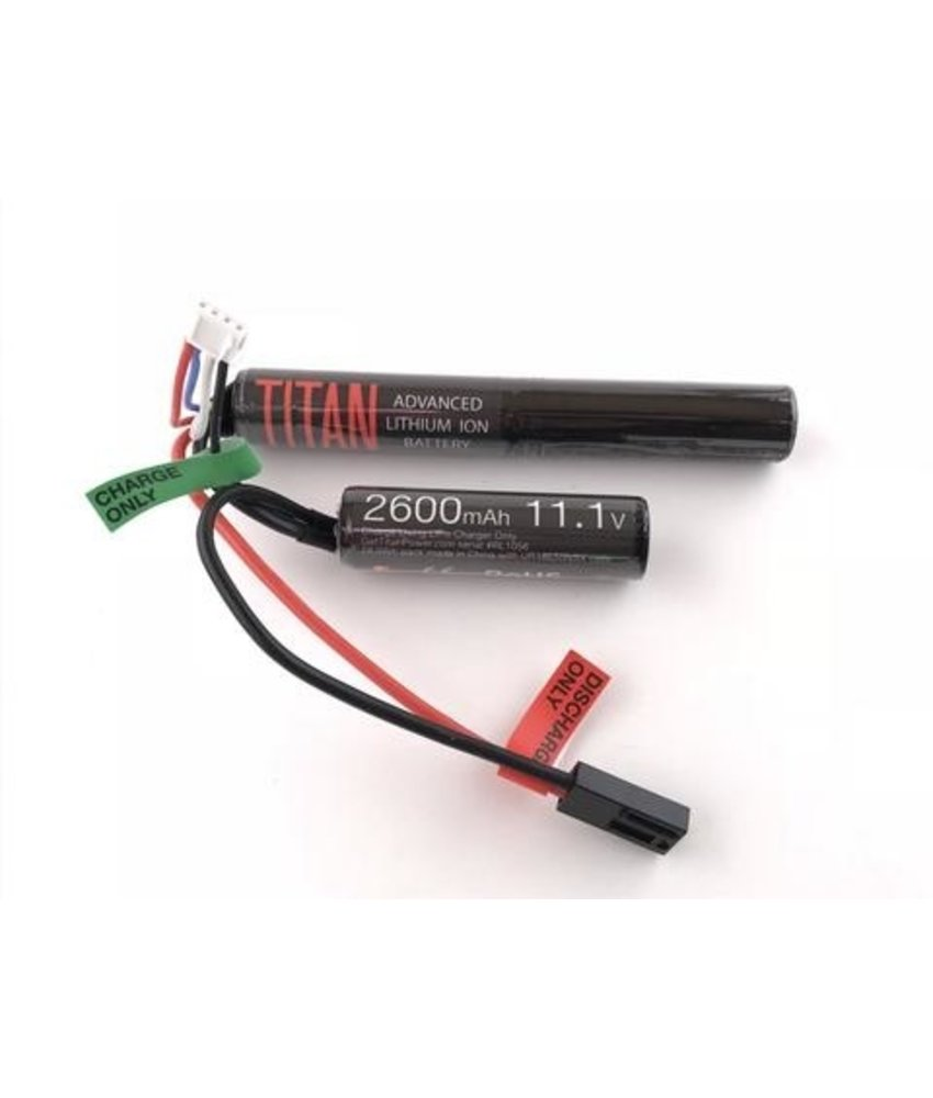 Titan Power 11.1V 2600mAh Li-Ion Battery (Nunchuck - Tamiya)