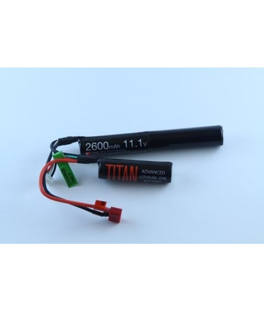 Titan Power 11.1V 2600mAh Li-Ion Battery (Nunchuck - Deans)