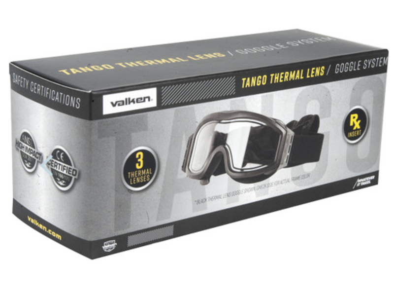 Valken Tactical Tango Thermal Goggles (Black)