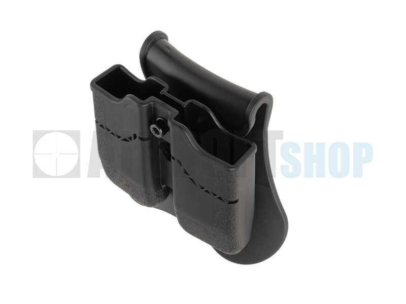 Amomax Double Mag Pouch for WE / KJW / KWA / TM 1911 (Black)