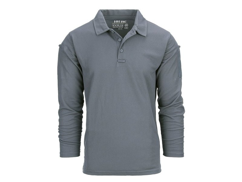 101 Inc Tactical Polo Quick Dry Long Sleeve (Wolf Grey)