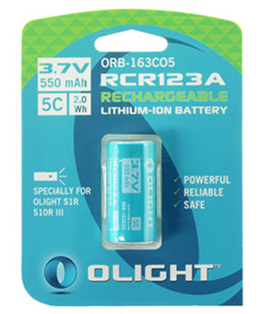 Olight Rechargeable RCR123 Lithium 3V Batterij