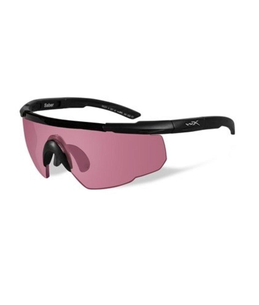 Wiley X Saber Advanced Vermillion Pink  (Black Frame)