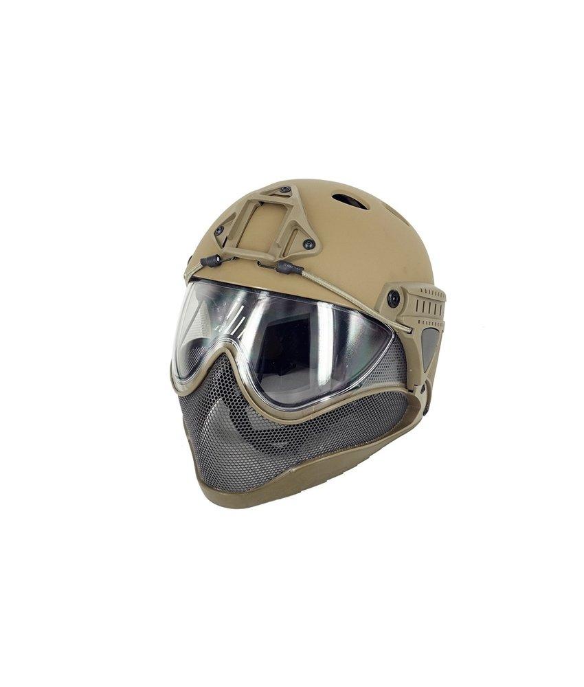 WARQ Full Face Mask & Helmet (Tan)