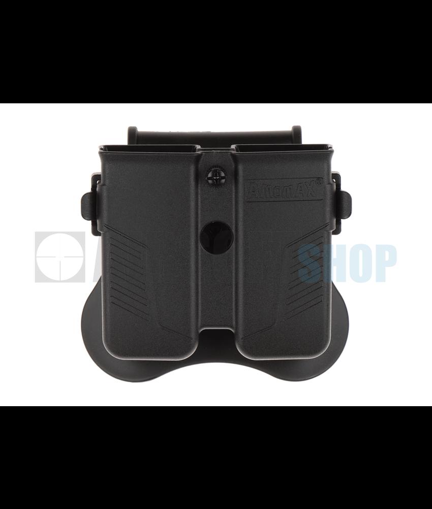 Amomax Universal Double Magazine Pouch (Black)