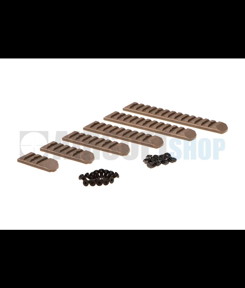 MP Keymod & M-LOK Rail Set 6-pack (Dark Earth)