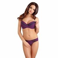 thumb-Voedingsbh / Zwangerschapsbh Purple Dots-2
