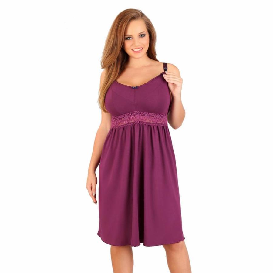 Zwangerschapsnachtjurk / Voedingsnachtjurk Purple Dream-1