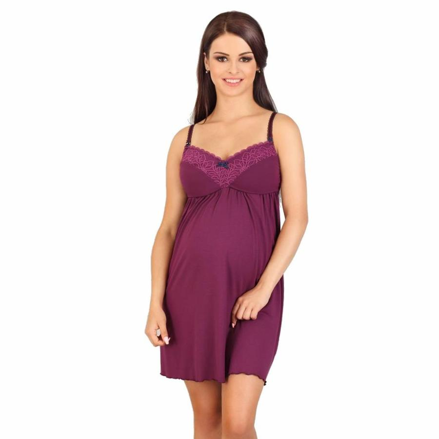 Zwangerschapsjurk / Voedingsjurk Fantasy Purple-1