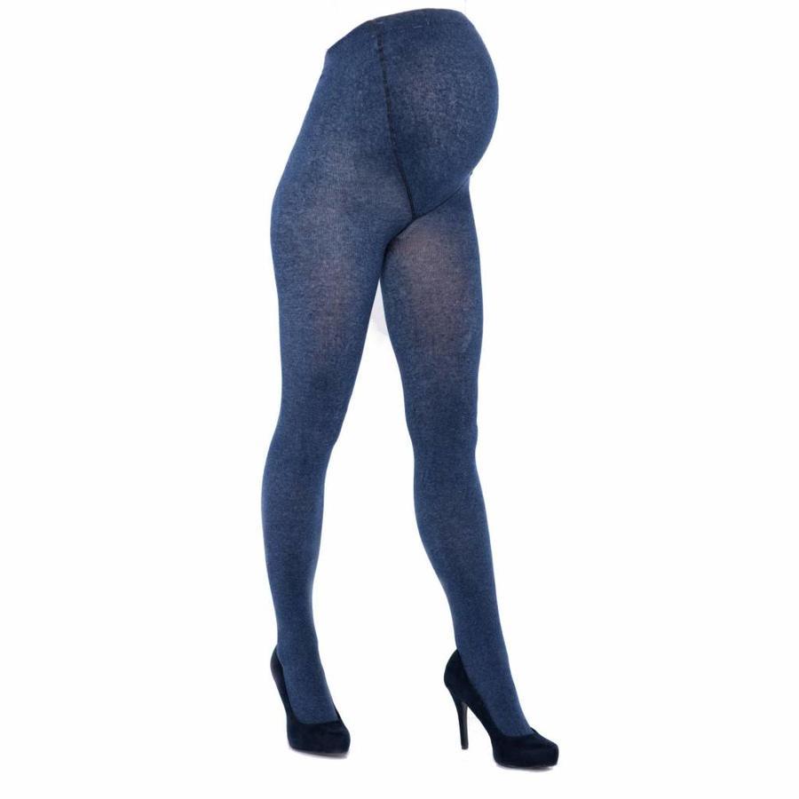 Zwangerschapspanty Positiepanty 300 Den Jeans Blauw-1