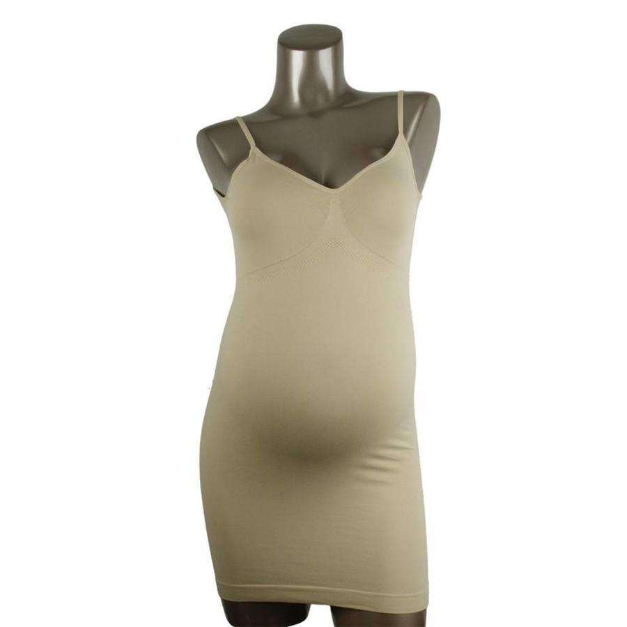 Zwangerschaps Onderjurk Naadloos Huidskleur-3