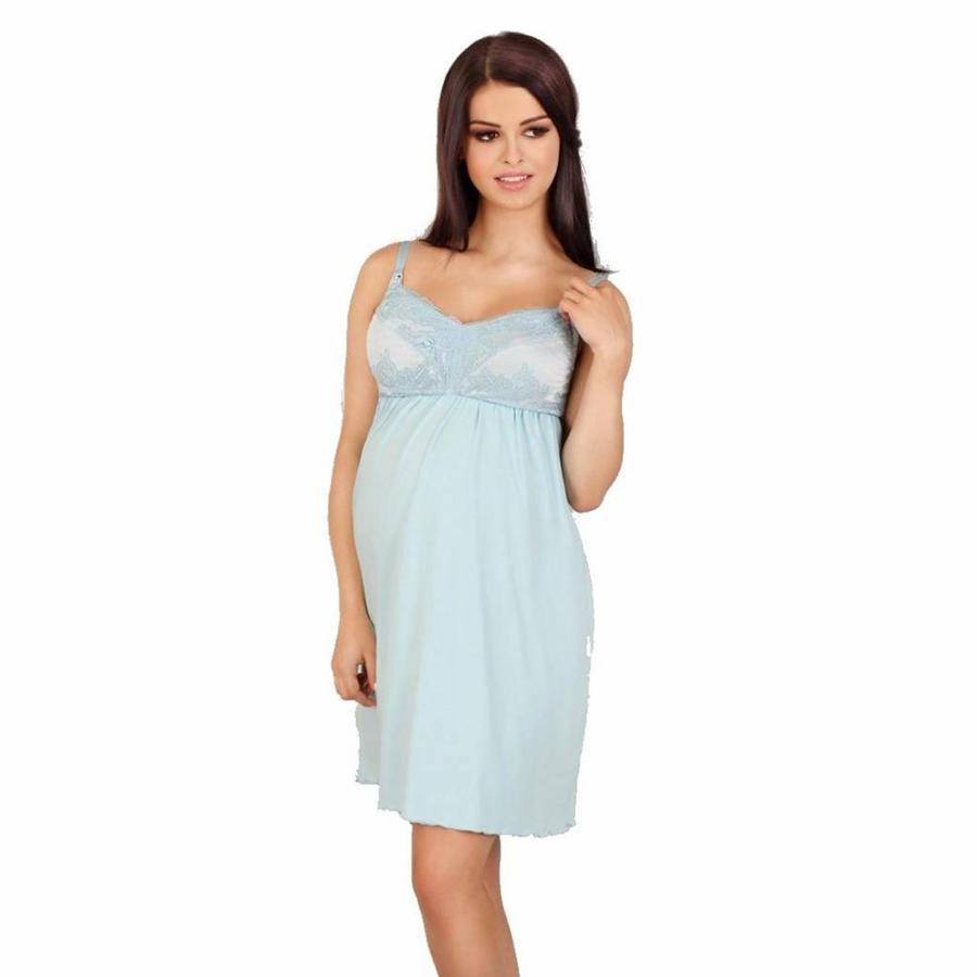Zwangerschapsjurk / Voedingsjurk Soft Blue-1
