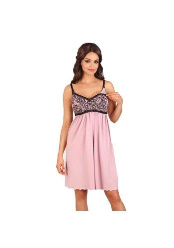 Zwangerschapsnachthemd Black and Pink