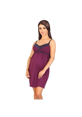 Zwangerschapsnachthemd Dark Purple