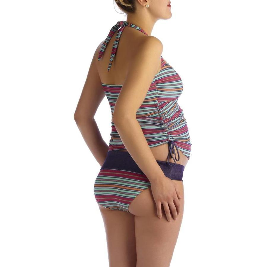 ZwangerschapsTankini / PositieTankini Collored Stripe-2