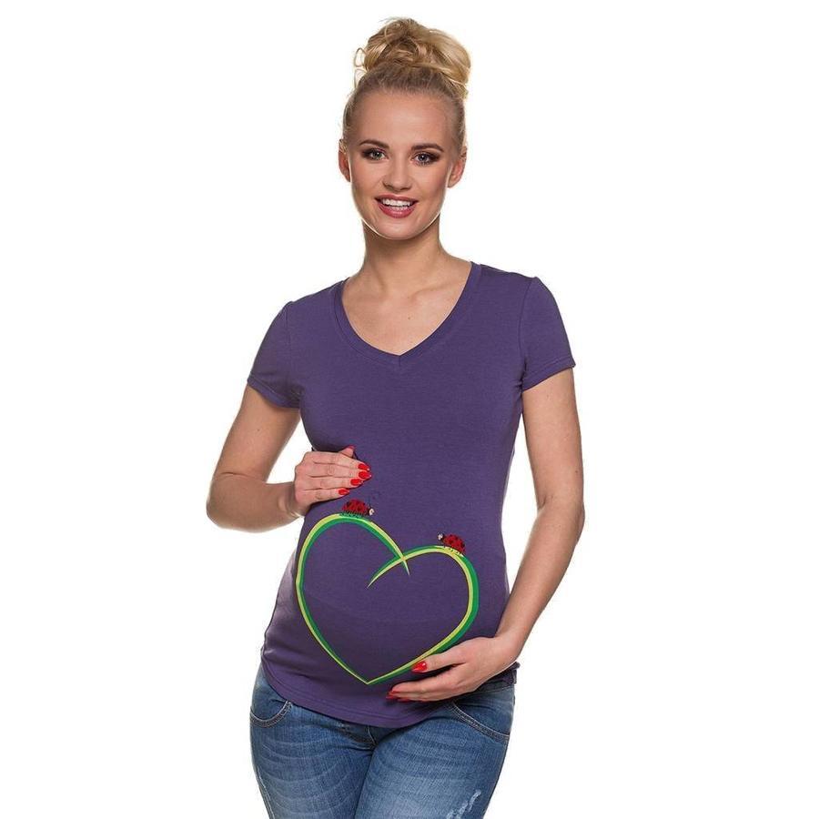Zwangerschapsshirt Positieshirt Korte Mouw Ladybirds-1