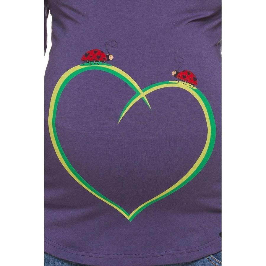 Zwangerschapsshirt Positieshirt Korte Mouw Ladybirds-2