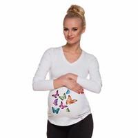 thumb-Zwangerschapsshirt Longsleeve Lange Mouw Butterflies-1