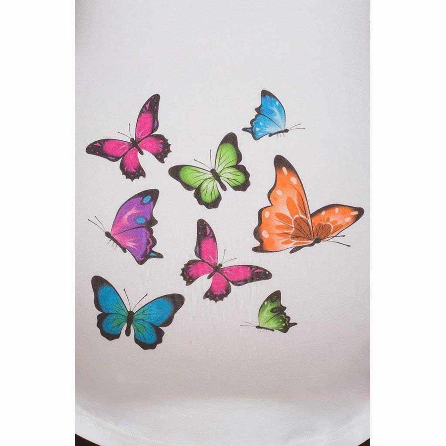 Zwangerschapsshirt Longsleeve Lange Mouw Butterflies-2