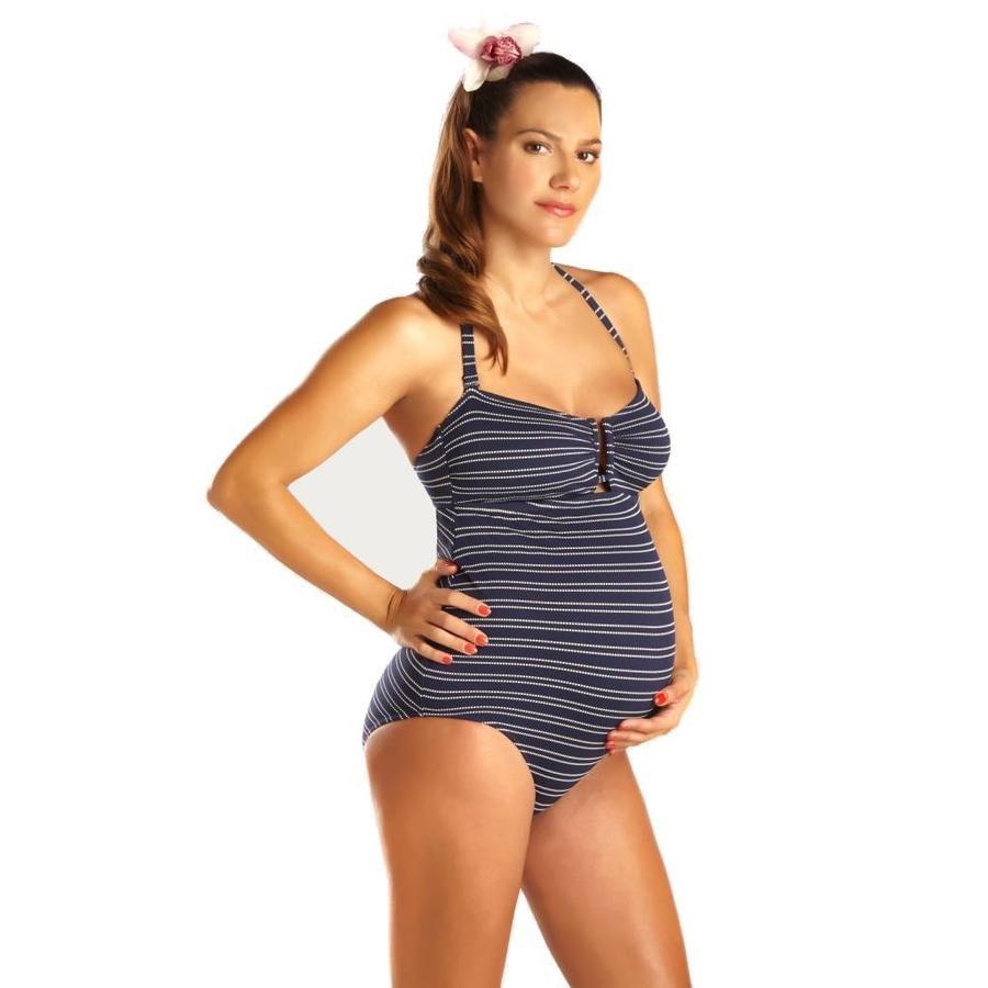 ZwangerschapsBadpak / PositieBadpak Marine Navy-1