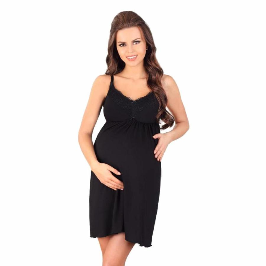 Zwangerschapsjurk / Voedingsjurk Black-1