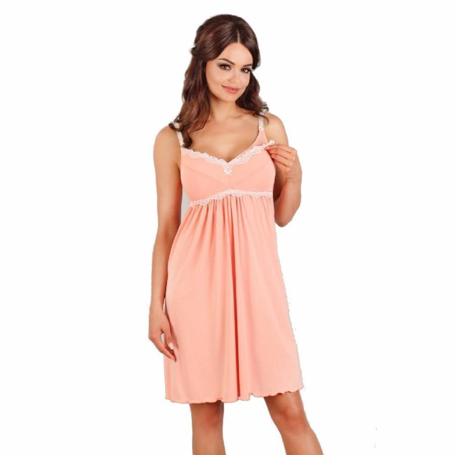 Zwangerschapsjurk / Voedingsjurk Peach-1