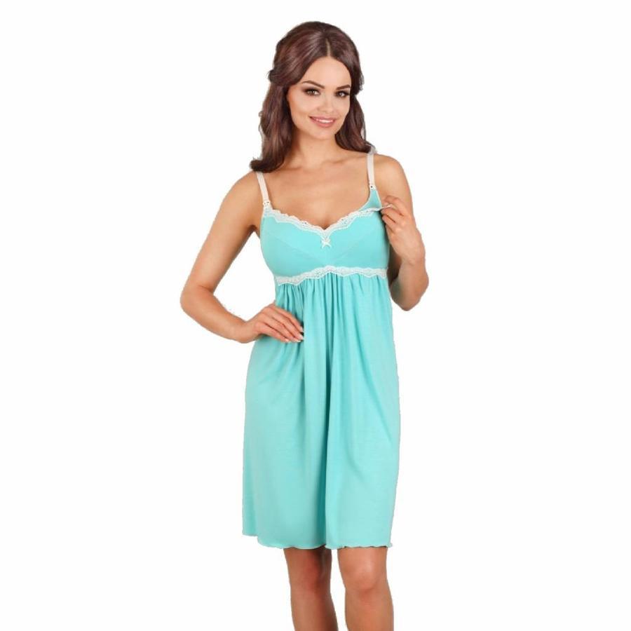 Zwangerschapsjurk / Voedingsjurk Turquoise-1