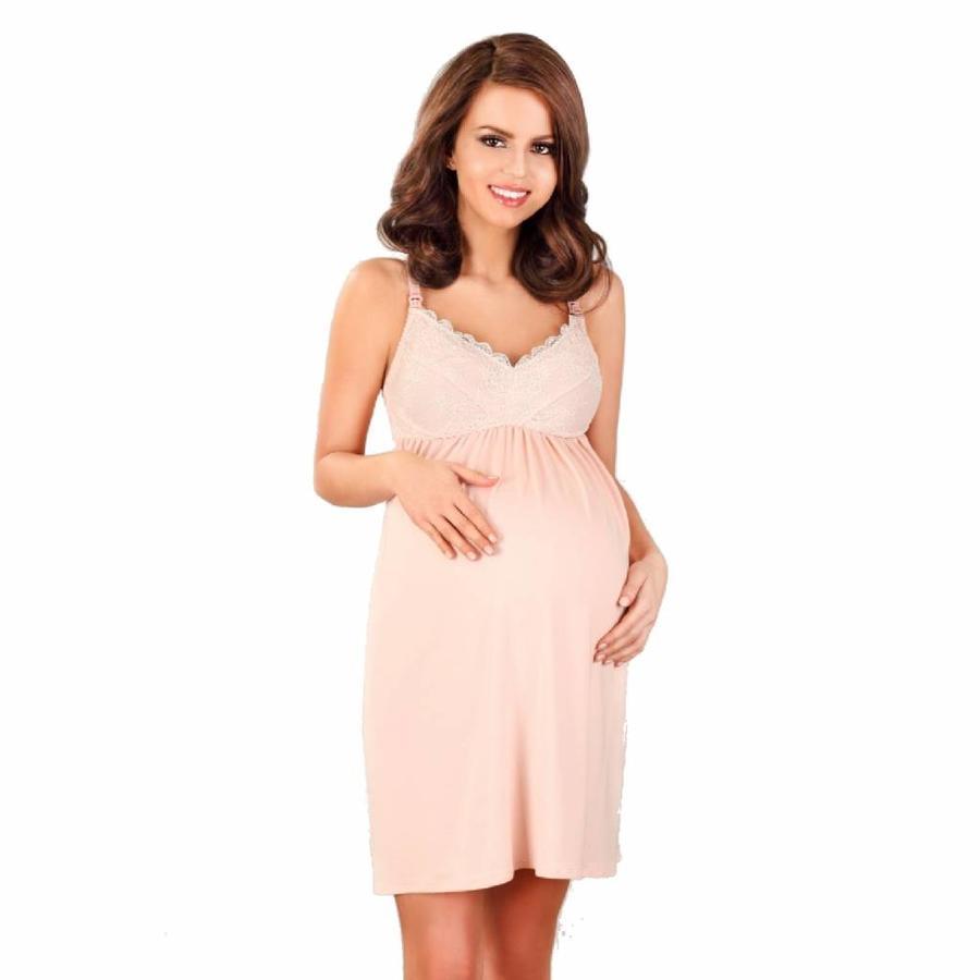 Zwangerschapsjurk / Voedingsjurk Pastel Pink-1