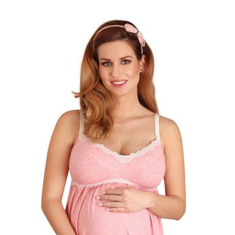 Zwangerschapsjurk / Voedingsjurk Pink Candy-1