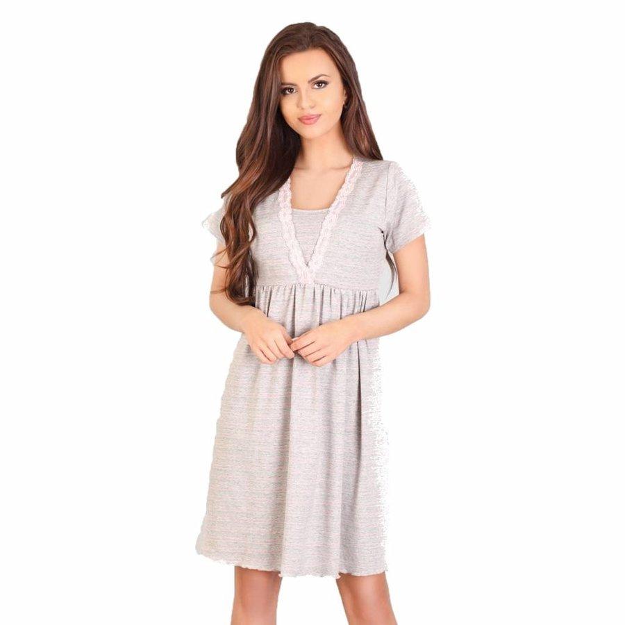 Zwangerschapsshirt / Voedingsshirt Light Grey-1