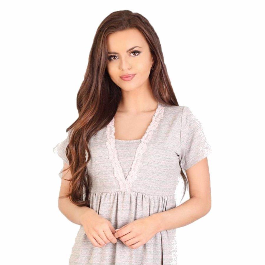 Zwangerschapsshirt / Voedingsshirt Light Grey-2