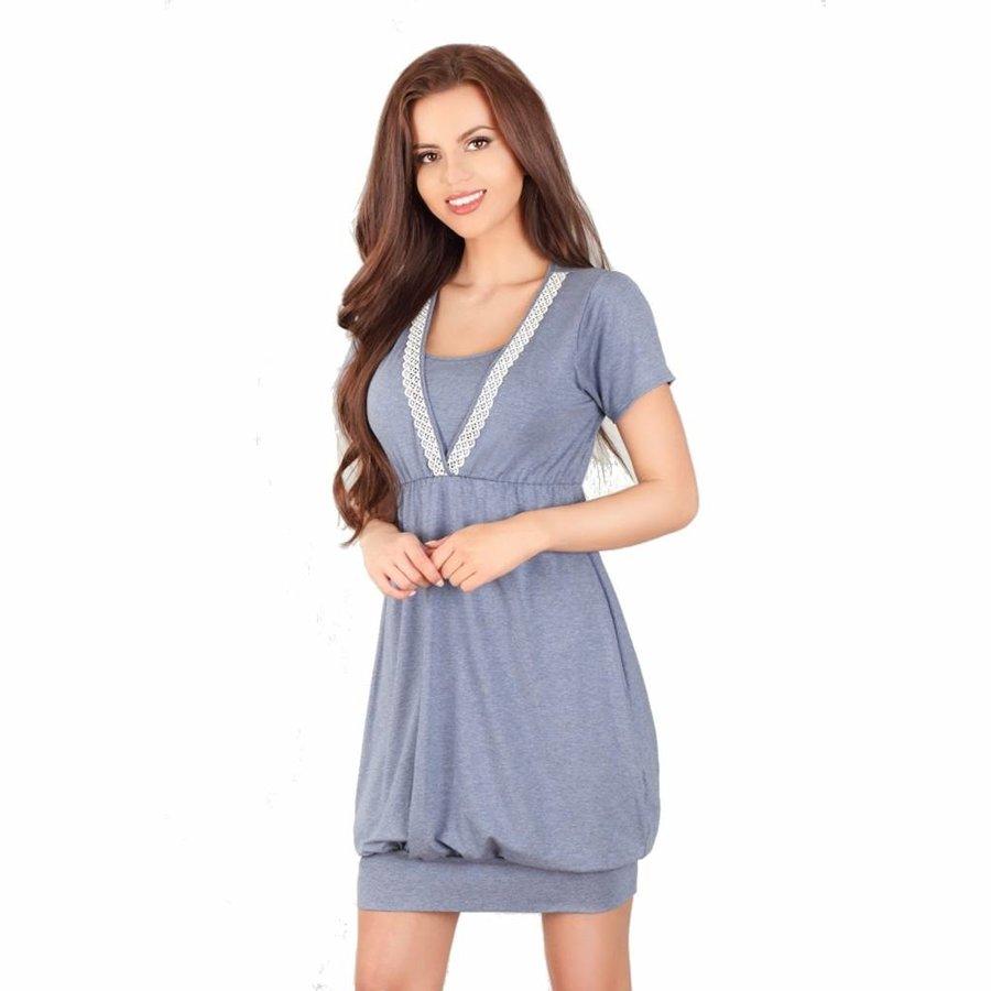 Zwangerschapsshirt / Voedingsshirt Dark Blue-2
