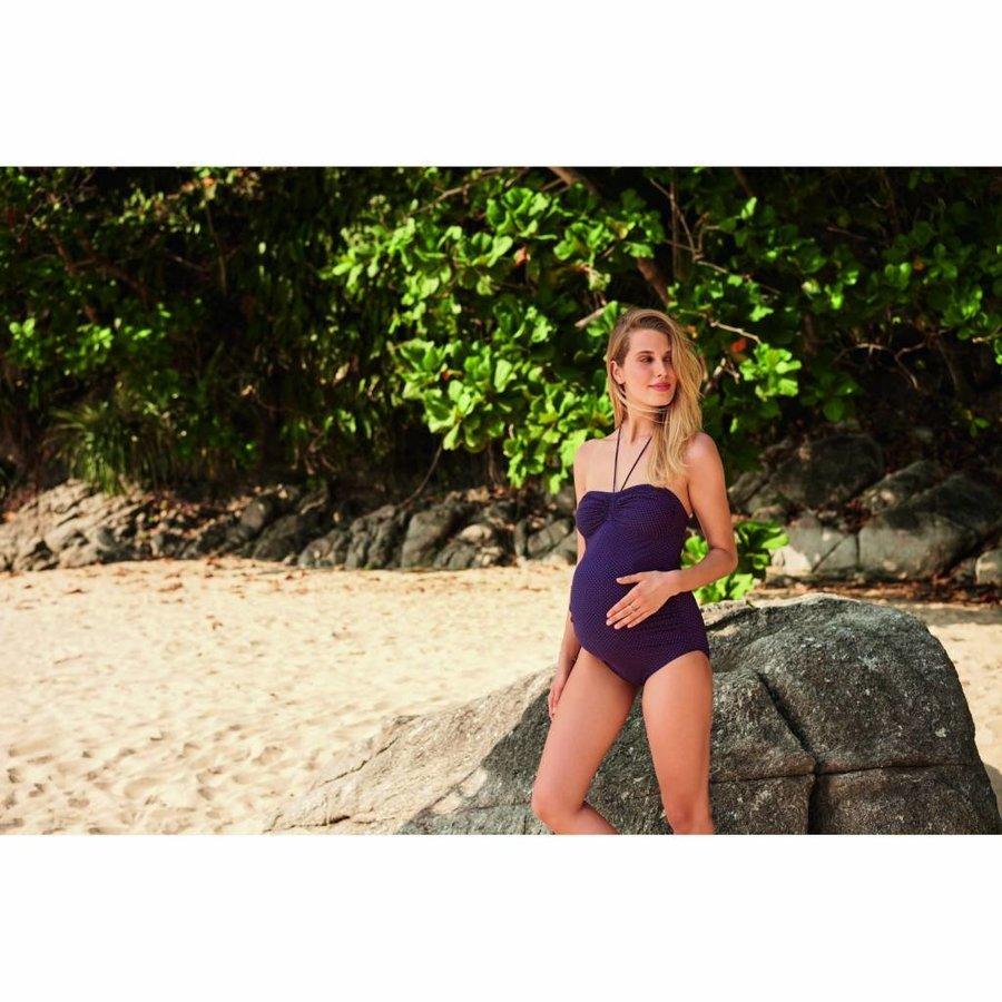 Zwangerschapsbadpak / Positiebadpak Samoa Midnight-3