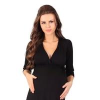 thumb-Zwangerschapsjurk / Voedingsjurk Black 3/4 mouw-2