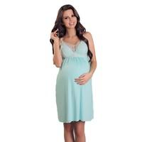 thumb-Zwangerschapsjurk / Voedingsjurk Ocean Blue-1