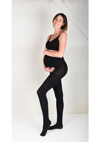 Zwangerschapspanty 100 Den Zwart