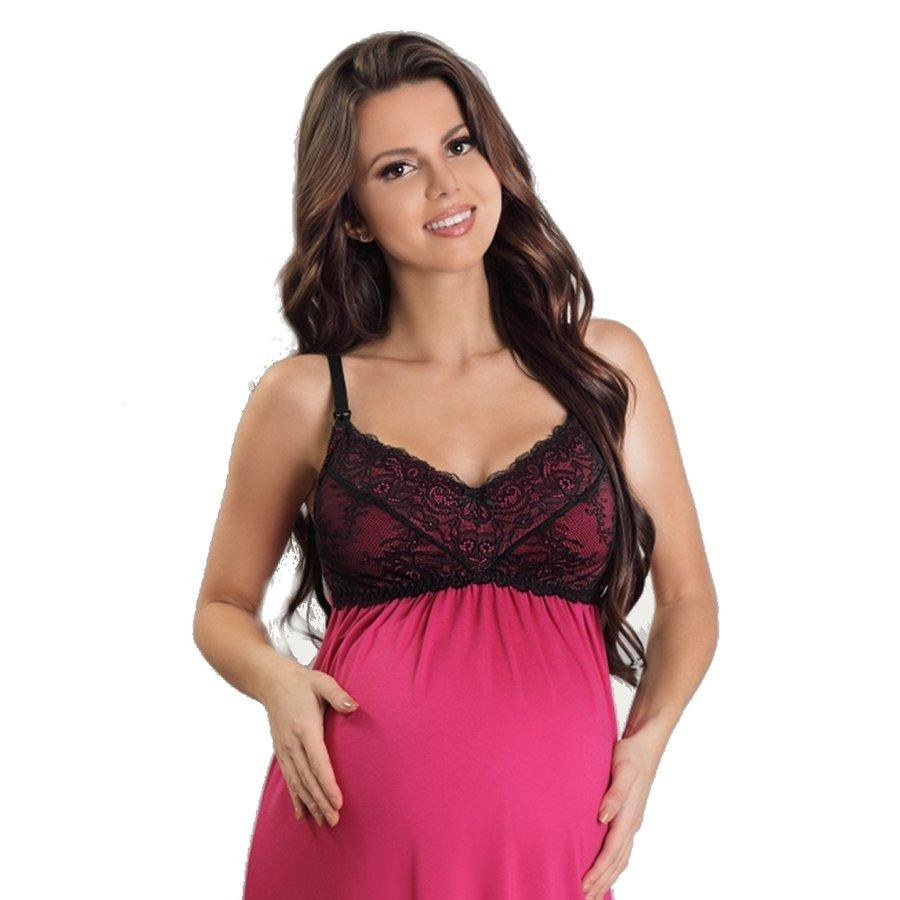 Zwangerschapsjurk / Voedingsjurk Sexy Pink-2
