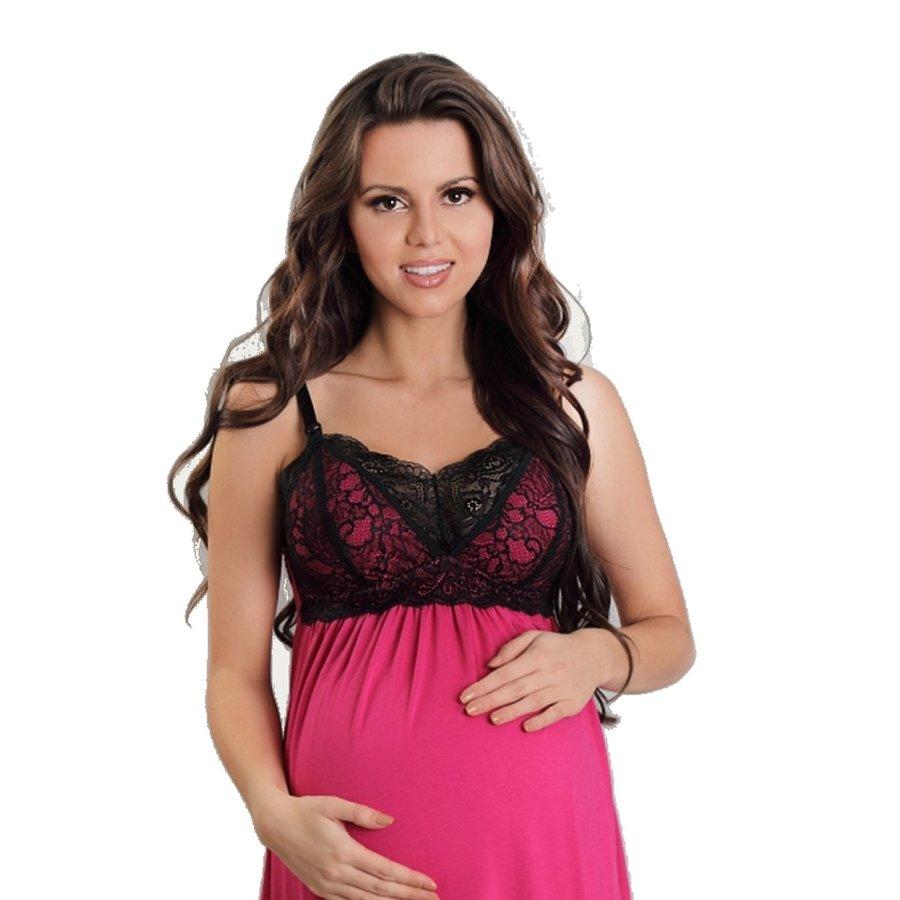 Zwangerschapsjurk / Voedingsjurk Sexy Fucsia-2