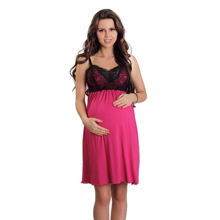 Zwangerschapsjurk / Voedingsjurk Sexy Fucsia-1