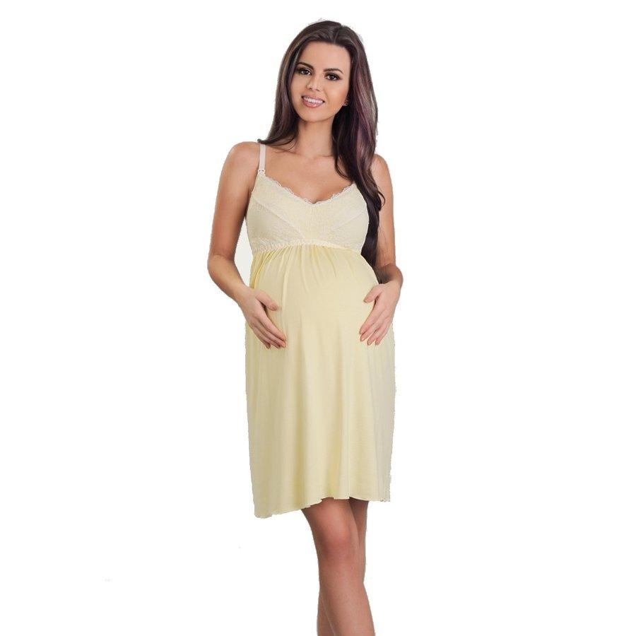 Zwangerschapsjurk / Voedingsjurk Mellow Yellow-1
