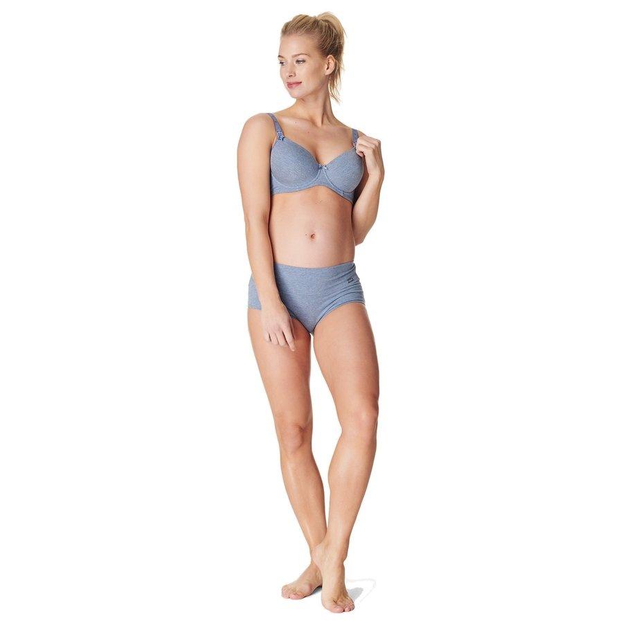 Zwangerschapsbeha / Voedingsbeha Cotton Comfort Blue Melange-5