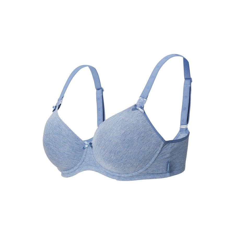 Zwangerschapsbeha / Voedingsbeha Cotton Comfort Blue Melange-2