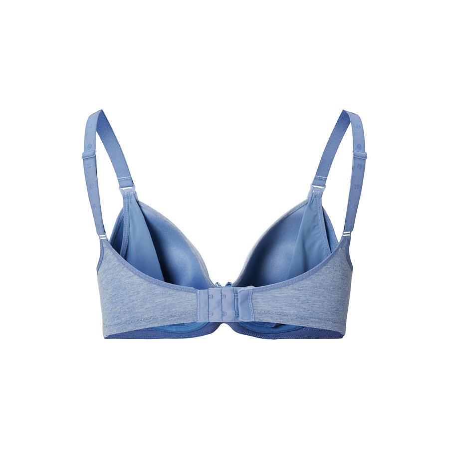 Zwangerschapsbeha / Voedingsbeha Cotton Comfort Blue Melange-3