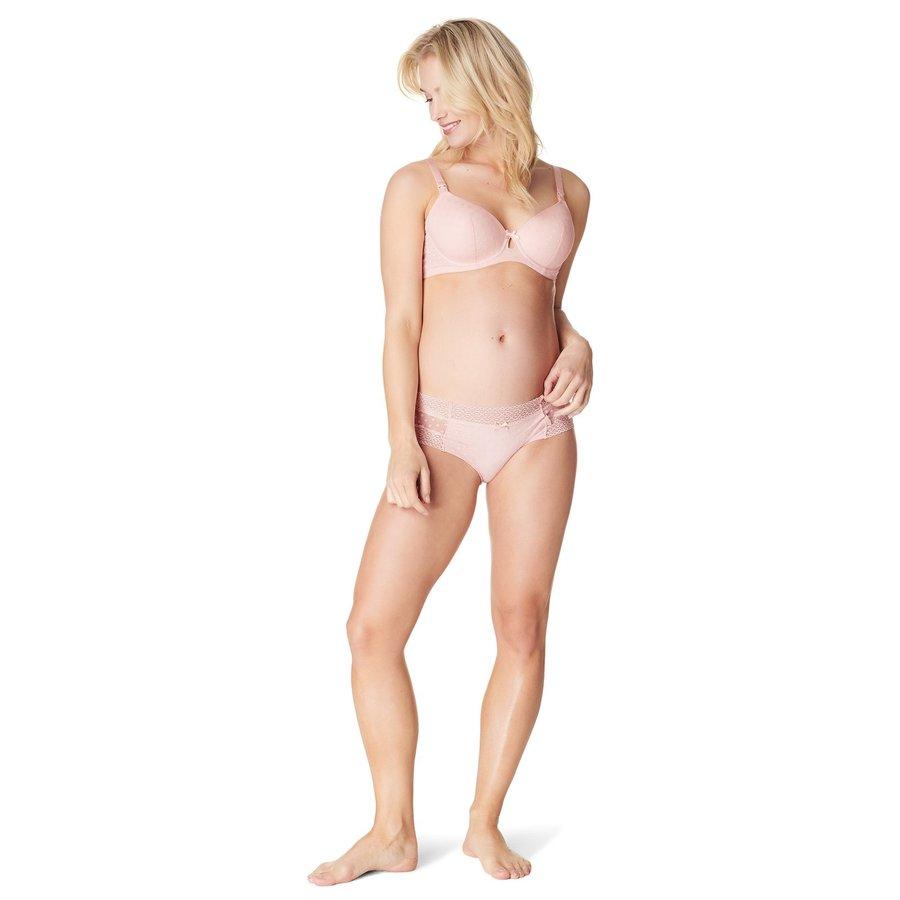 Zwangerschapsbeha / Voedingsbeha Deluxe Mesh Triangle Roze-9