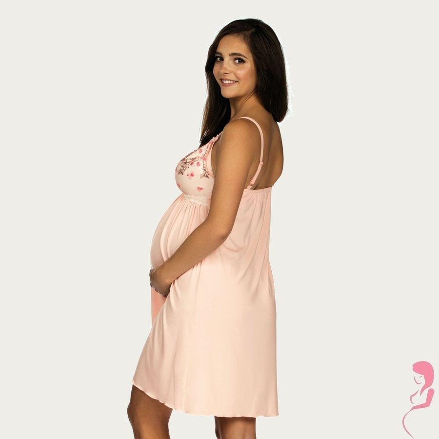 Zwangerschapsjurk / Voedingsjurk Pink Flower-2