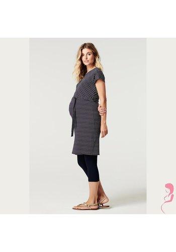 Zwangerschapslegging 3/4 Capri  Naadloos Blauw