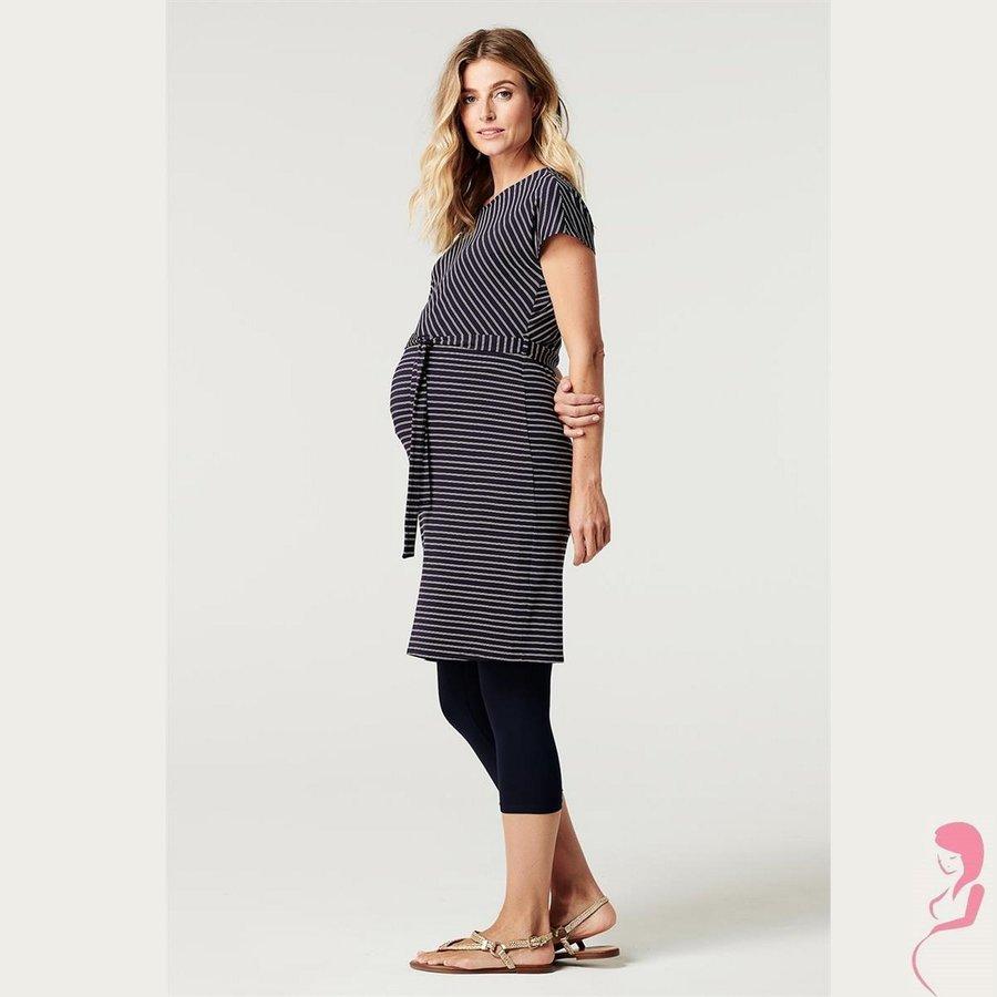 Zwangerschapslegging 3/4 Capri Naadloos Donker Blauw-1