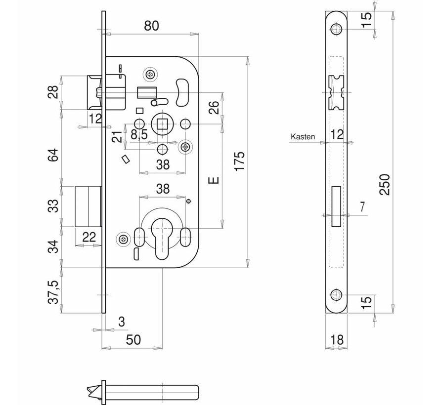 Türschloss Serie 121 Ö-Norm B 5350 PZ