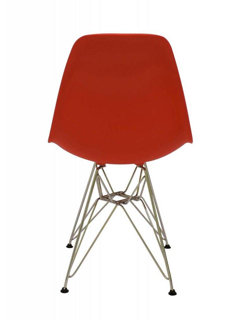 DSR Eames Design Eetkamerstoel Rood