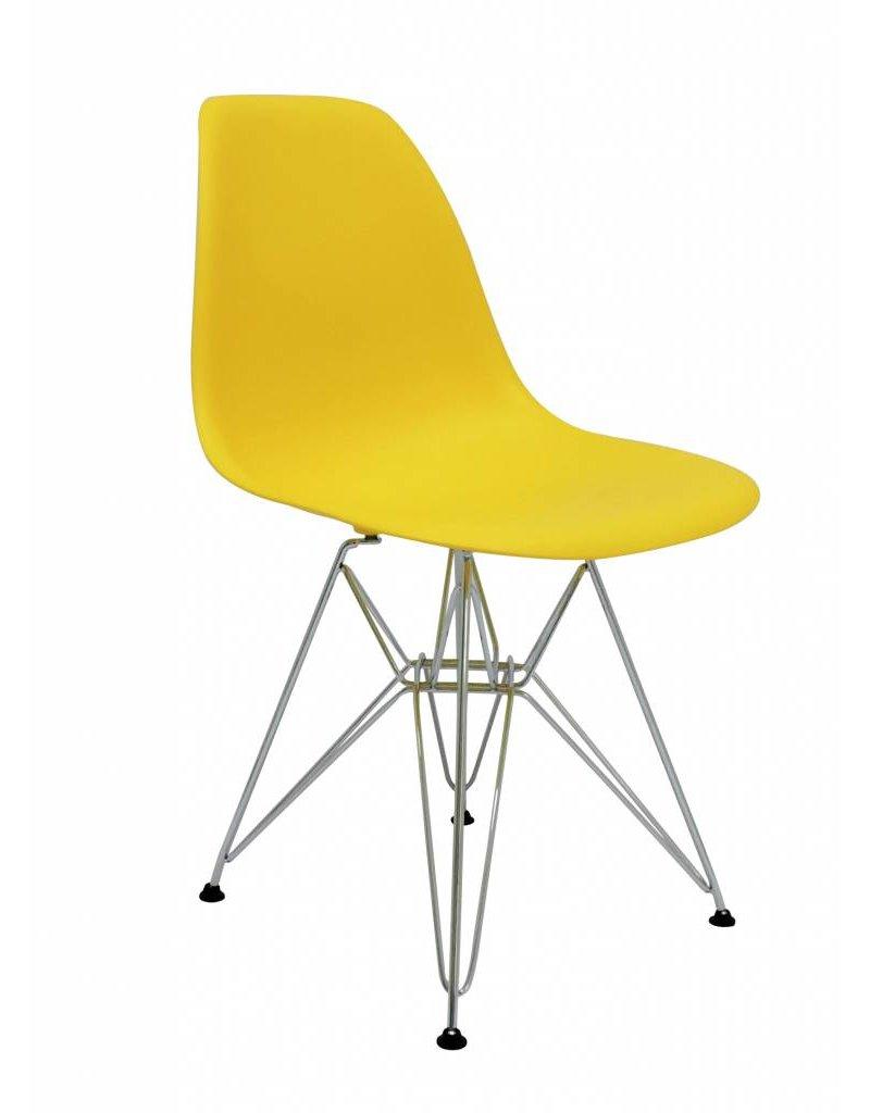 Te Koop Design Eetkamerstoelen.Dsr Eames Design Eetkamerstoel Geel